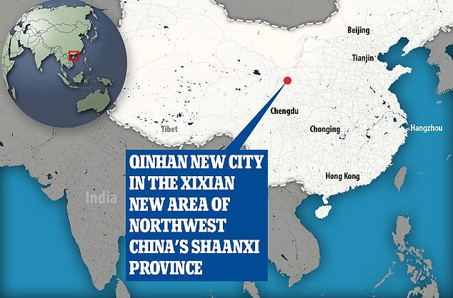 The cemetery and mirrors were discovered in the Gaozhuang Township of Shaanxi's Xixian New Area