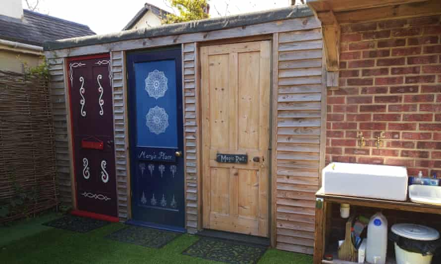 Dedicated shower rooms for units at the Meadow Glamping
