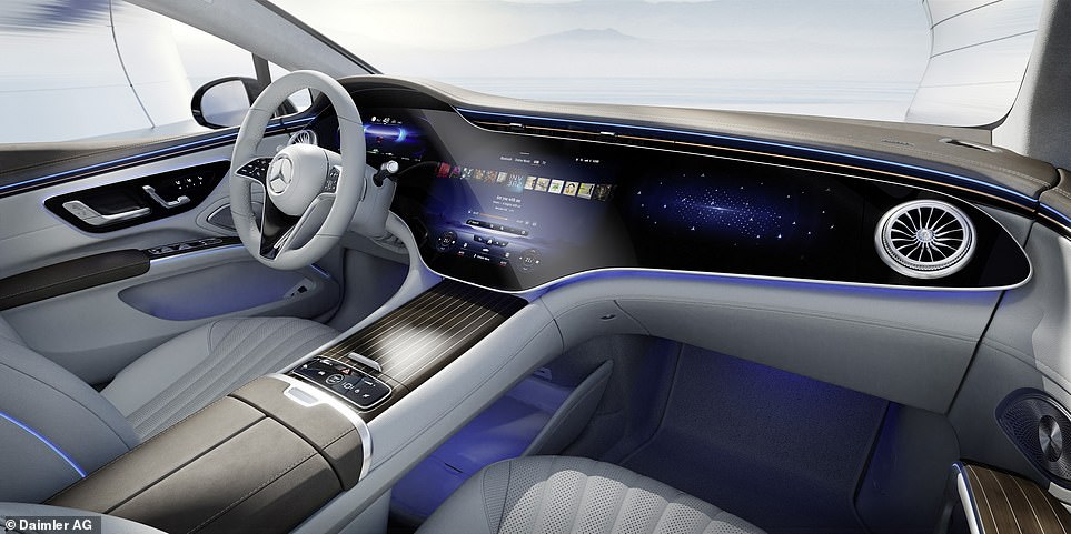 The MBUX Hyperscreen doesn't come as standard. Entry-spec models will instead come with a tablet-style screen for the driver's instrument cluster and a larger portrait-orientated display in the centre console and dash, similar to the one in Tesla's latest machines