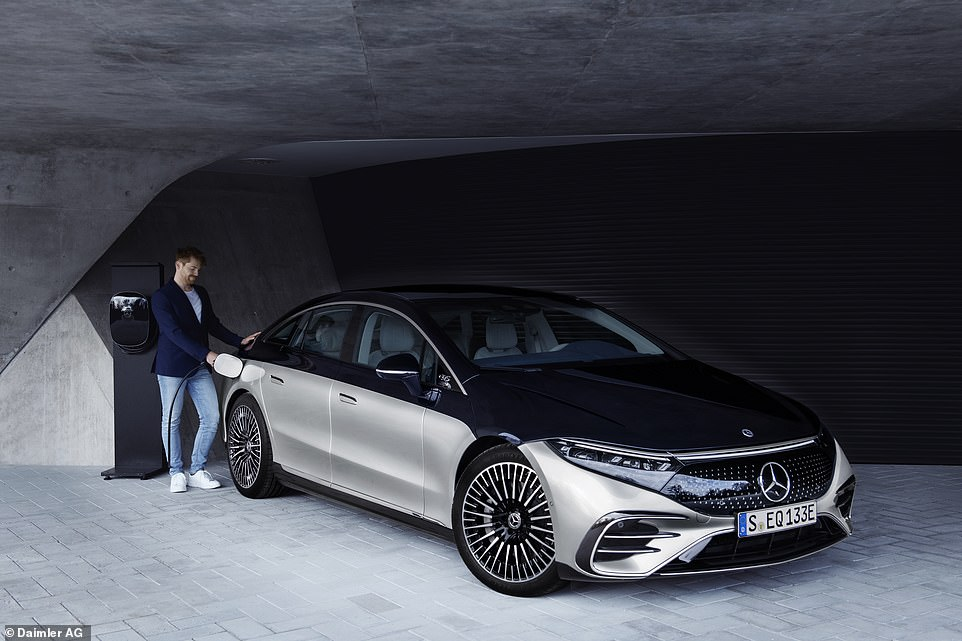 A full charge on an 11 kW AC wall-box takes 10 hours, halved to 5 hours on a 22kW box, according to Mercedes-Benz bosses