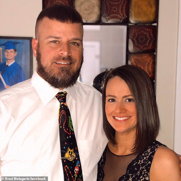 A Mississippi man, 43, has been left paralyzed on one side of his body and unable to talk after receiving the Johnson & Johnson COVID-19 vaccine, according to the man's family. Brad Malagarie pictured with his wife Cori
