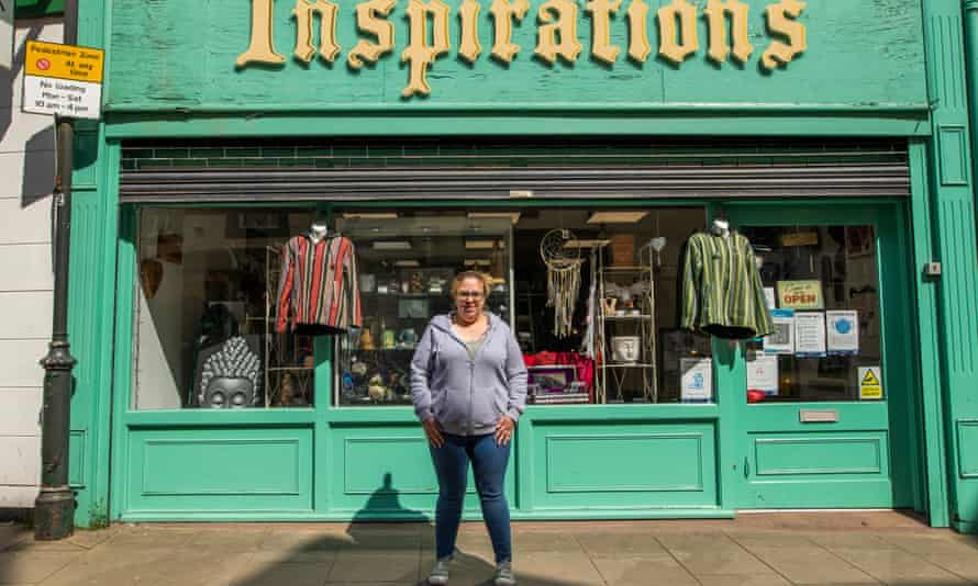Rachael Martin outside Inspirations gift shop in Mansfield.