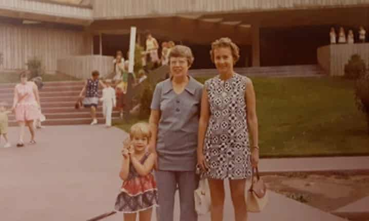 Heiny, with her mother and her paternal grandmother, circa 1972