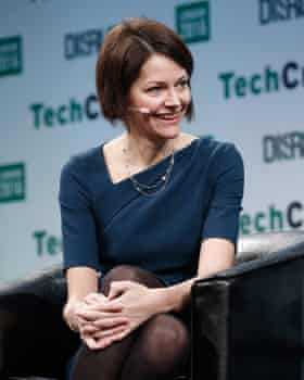 Poppy Gustafsson at a tech conference in London.