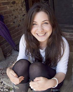 Student Averil Hart, 19, who died in 2012
