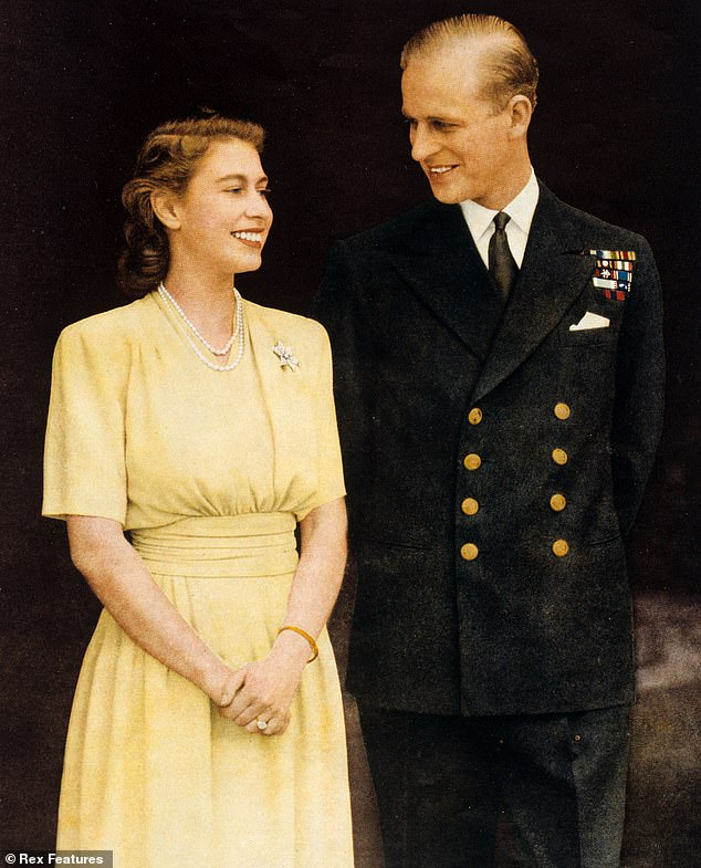 Pictured: The Queen and Prince Philip in their engagement photograph in 1947