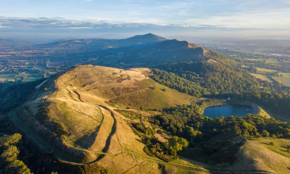 The Malvern Hills, with an iron age hillfort