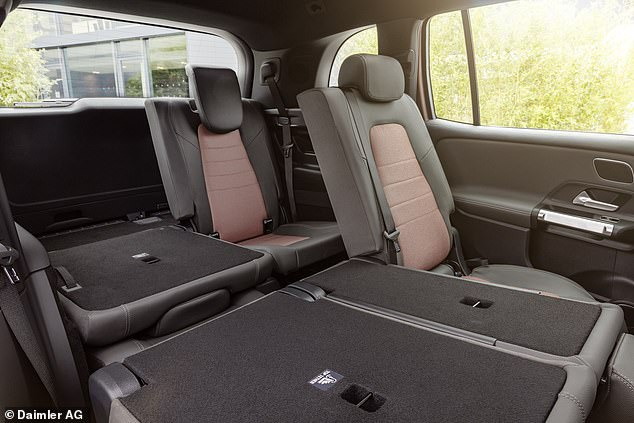 The two seats in the third row can be used by people up to 5 ft 4 inches tall, and child seats can also be fitted there