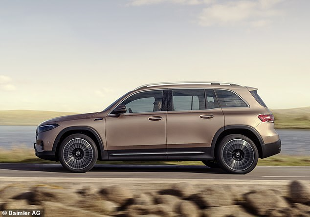 With a seven-seat layout, this is the second biggest electric model from Mercedes, behind the £70,00 EQV people carrier