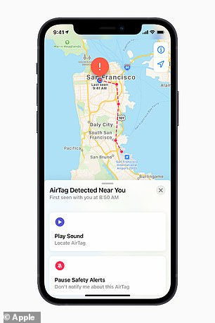 If a user misplaces their item and it is within Bluetooth range, they can use the Find My app to play a sound from the AirTag to help locate it