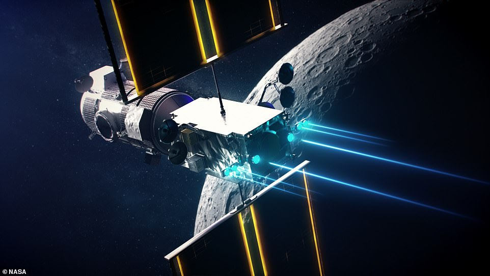 The two modules are being built for NASA and will act as a staging post for trips to the lunar surface