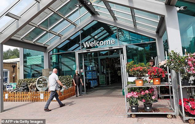 Gardening boom: Plant retailers and garden centres saw monthly sales growth of 7.4 per cent, which is above average for this time of year, the ONS said