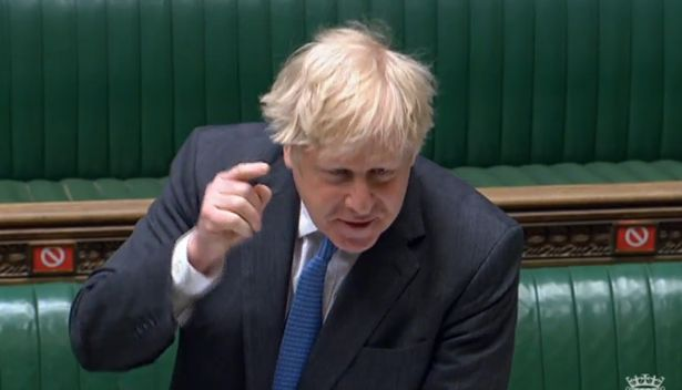 Johnson was furious as Keir Starmer cornered him in PMQs today