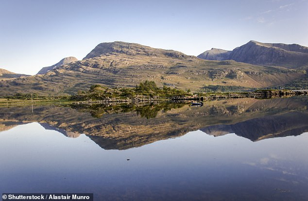The fossil was found at Loch Torridon (pictured) and reveals an organism which is more complex than a single-celled creature, but is not truly multicellular