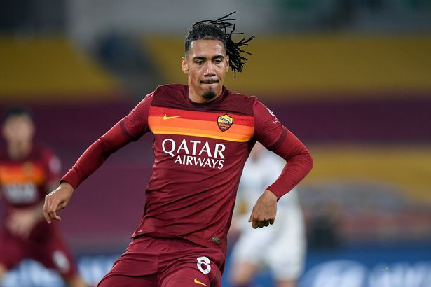 Chris Smalling had a tough night for Roma
