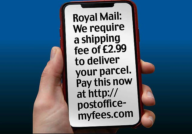 Scam text: The message purporting to be from Royal Mail that is thought to have been sent to millions of phones across the country