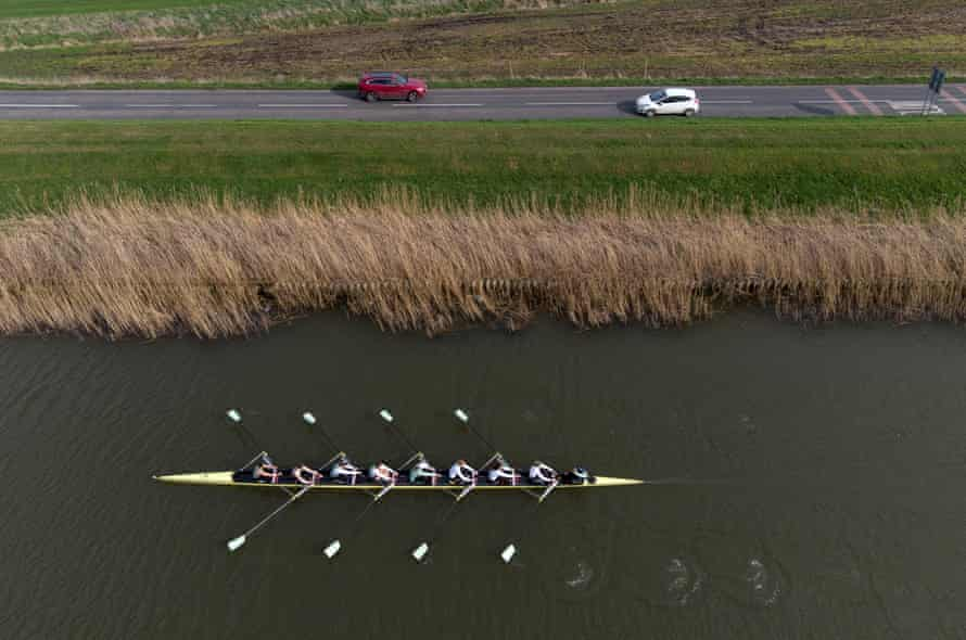 The Cambridge women's crew train on the Great Ouse