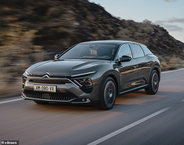 Floating feeling: The C5Xpromises a characteristic 'magic carpet ride' of comfort thanks to a smooth new advanced active suspension system that helps the car 'fly over the road'