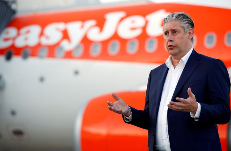 EasyJet CEO criticises testing requirements in Britain's travel restart plan