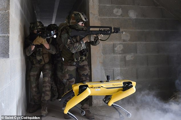 The French army is the latest new user of Boston Dynamics' robot dog Spot, which it's using for training in combat scenarios
