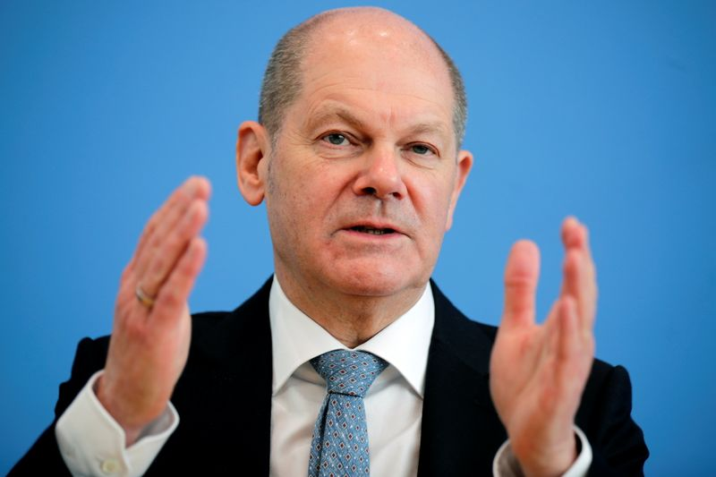 Germany's Scholz greets U.S. move to work on global corporate minimum tax rate