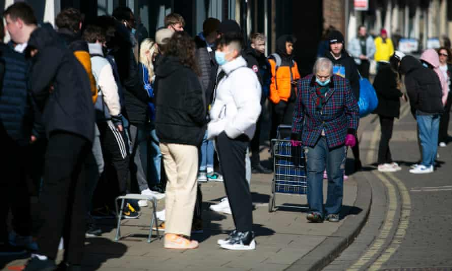 Shoppers return to York as lockdown restrictions are eased.