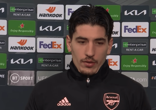 Hector Bellerin claims Arsenal still in with a strong chance of qualifying for the Europa League semi finals