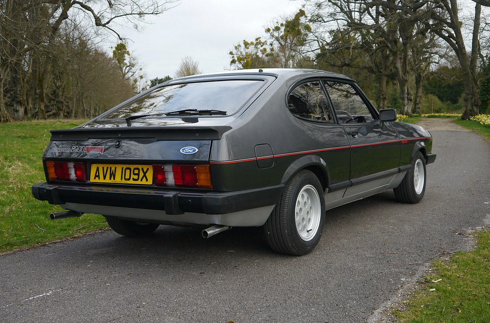 The Ford that belonged to Mr Ford: This 1981 Ford Capri 2.8 Injection is a bespoke version hand-picked for Henry Ford II to use during his frequent visits to the UK in the early eighties