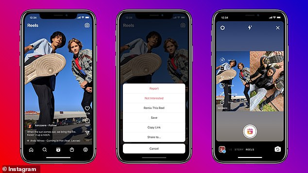 Instagramhas introduced Reels Remix, allowing users to creation reaction videos to other Reels on the app