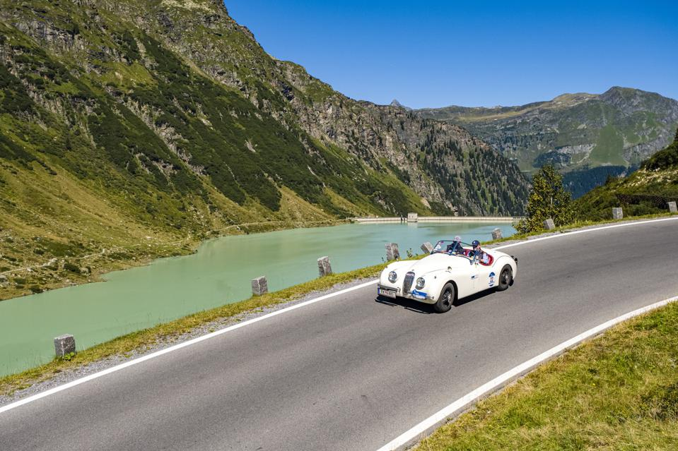 Classic Car Rally in the Mountains of Austria