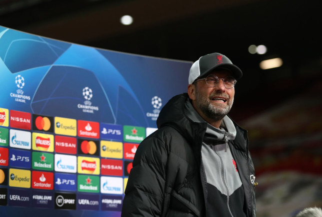urgen Klopp, Manager of Liverpool is interviewed following the UEFA Champions League Quarter Final Second Leg match between Liverpool FC and Real Madrid at Anfield on April 14, 2021 in Liverpool, England. Sporting stadiums around the UK remain under strict restrictions due to the Coronavirus Pandemic as Government social distancing laws prohibit fans inside venues resulting in games being played behind closed doors.