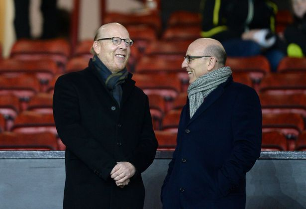 Manchester United joint chairmen Joel Glazer (right) and Avram Glazer at Old Trafford