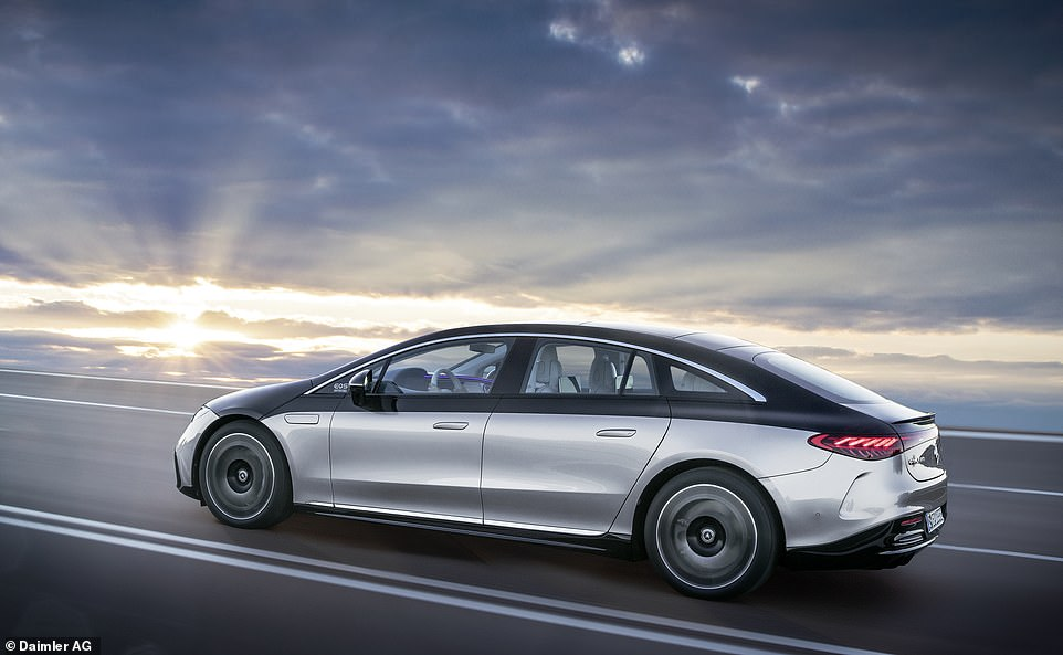 The new space-age luxury limo from Mercedes-Benz: The German brand has just unveiled this wonderfully svelte EQS - a premium saloon car that's powered only by electricity