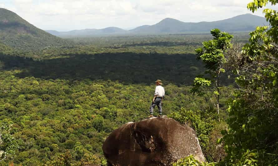 Kevin Rushby in the jungles of Rewa, Guyana