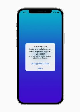 Apple iOS 14.5 prompt for allowing apps to track online activity