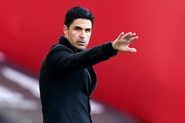 Arsenal's Spanish manager Mikel Arteta gestures on the touchline during the English Premier League football match between Sheffield United and Arsenal at Bramall Lane in Sheffield, northern England on April 11, 2021.