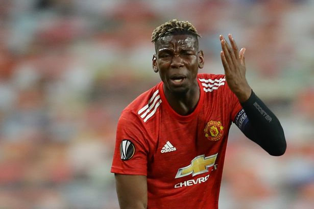 Pogba was booked in the first half