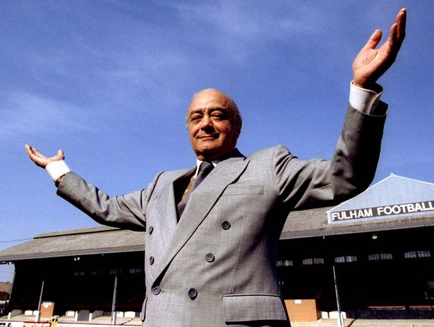 Mohamed Al-Fayed promised to turn lowly Fulham into 'the Manchester United of the south'