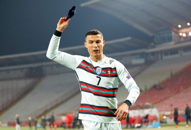 Cristiano Ronaldo threw his armband in disgust as left the pitch seconds before the final whistle
