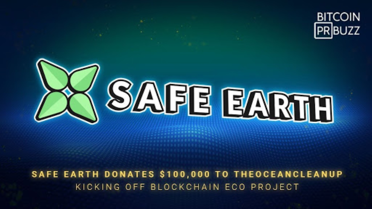 SafeEarth Donates $100,000 to TheOceanCleanUp Kicking Off Blockchain Eco Project