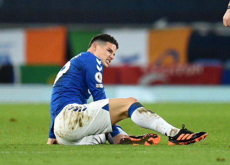 Soccer-Everton's Rodriguez to return from injury for Palace game