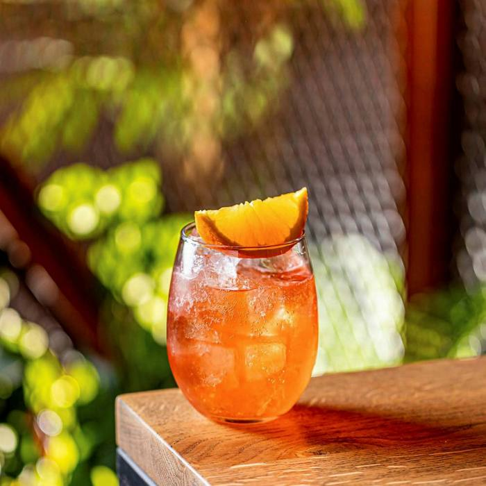 Coconut-washed Campari, pineapple vermouth and soda: Hoppers' Serendip Spritz