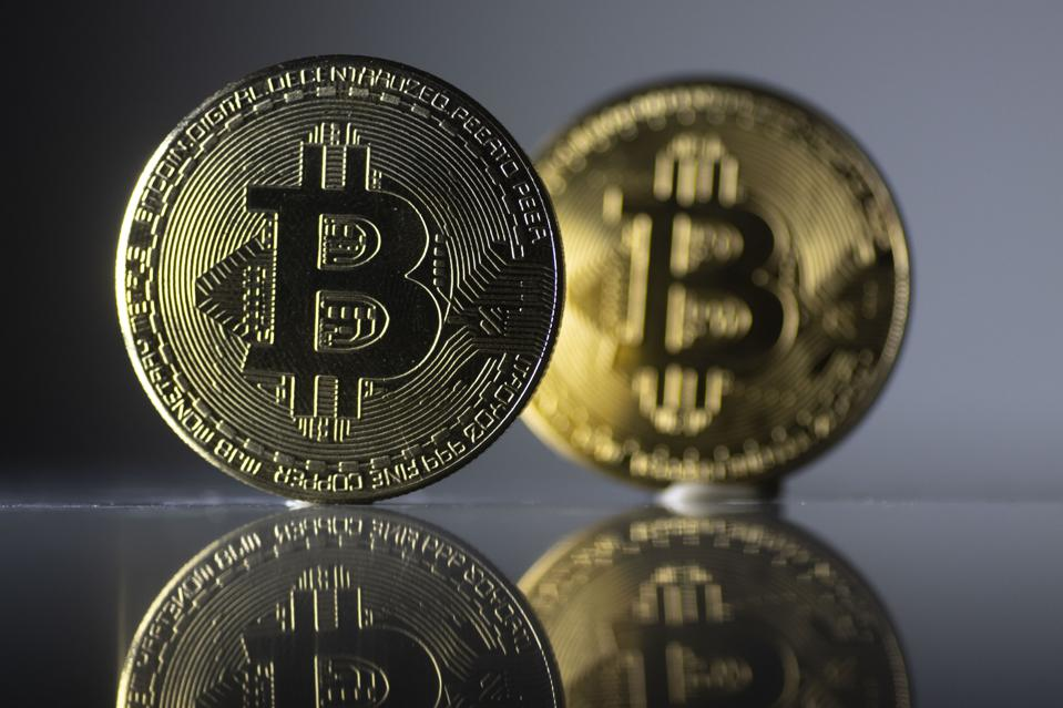 Photo illustration of the Bitcoin cryptocurrency