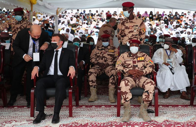 Thousands mourn Chad's Deby, rebels say their command hit by air strike
