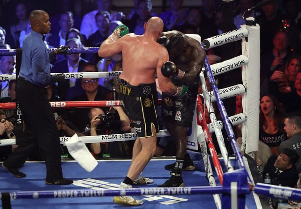 Tyson Fury in action against Deontay Wilder last year