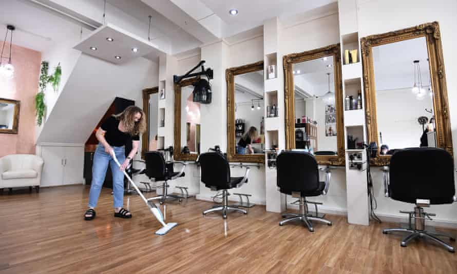 A hair salon in Stoke-on-Trent prepares to reopen this week.