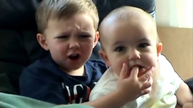 Charlie bit my finger was one of the original viral videos (Credits: YouTube)
