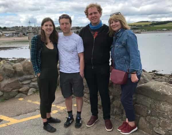 Pauline Elliot and family in Stonehaven last July