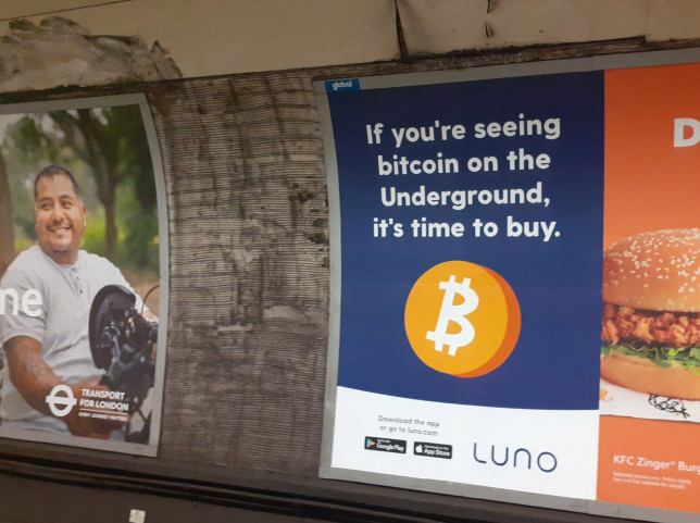 The advert was widely distributed on the underground (Picture: AP)