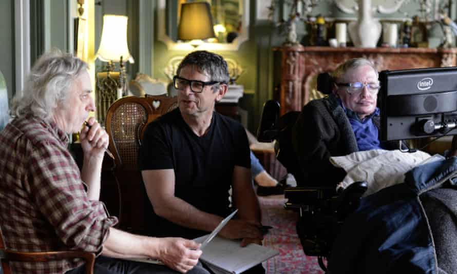 Malcolm Perry, Andrew Strominger and Stephen Hawking in Black Holes: The Edge of All We Know.